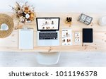 laptop  tablet and smartphone... | Shutterstock . vector #1011196378
