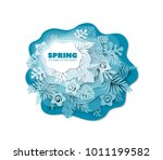 multi layered paper cut effect... | Shutterstock .eps vector #1011199582