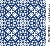 vector arabesque pattern.... | Shutterstock .eps vector #1011212122