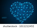 abstract polygonal heart.... | Shutterstock .eps vector #1011212452