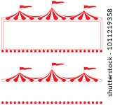circus tent border.  ideal for...   Shutterstock .eps vector #1011219358