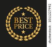 laurel wreath award symbol on... | Shutterstock .eps vector #1011227992