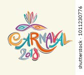 colorful carnaval 2018 title... | Shutterstock .eps vector #1011230776