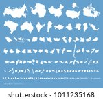 comparative map of 200 ... | Shutterstock .eps vector #1011235168