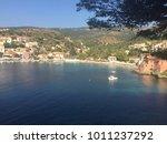 view on charming village assos... | Shutterstock . vector #1011237292