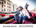 couple of lovers on vacation in ... | Shutterstock . vector #1011245932