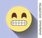 angry annoying emoticon. flat...   Shutterstock .eps vector #1011250726
