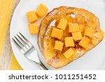 french toast with fresh mango... | Shutterstock . vector #1011251452