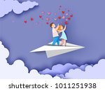 valentines day card. abstract... | Shutterstock .eps vector #1011251938