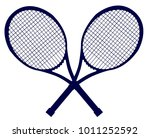 a pair of crossed tennis... | Shutterstock . vector #1011252592