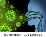 flu virus spread caused by... | Shutterstock . vector #1011255916