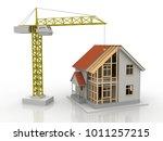 house 3d rendering illustration ... | Shutterstock . vector #1011257215