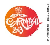 carnaval 2018. round seal...   Shutterstock .eps vector #1011258526