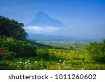 view of a volcano in the... | Shutterstock . vector #1011260602