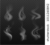 set of realistic bright  smoke  ...   Shutterstock .eps vector #1011260842