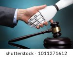 close up of gavel in front of...   Shutterstock . vector #1011271612