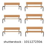 3d rendered bench at different... | Shutterstock . vector #1011272506
