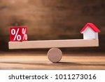 balancing of percentage red... | Shutterstock . vector #1011273016