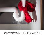 close up of red napkin tied... | Shutterstock . vector #1011273148