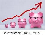 red arrow over increasing size...   Shutterstock . vector #1011274162