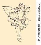 Flower Fairy Girl With...