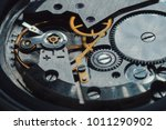 open clockwork  gears. old... | Shutterstock . vector #1011290902