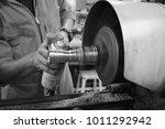 the small cnc lathe multi... | Shutterstock . vector #1011292942