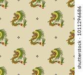 seamless geometrical pattern... | Shutterstock .eps vector #1011296686
