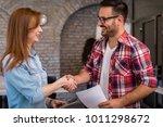 business people handshaking. | Shutterstock . vector #1011298672