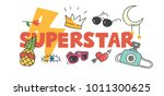 cool t shirt design in doodle... | Shutterstock .eps vector #1011300625