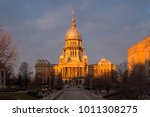 illinois state capitol building ... | Shutterstock . vector #1011308275