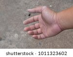 hand full of cement stains. | Shutterstock . vector #1011323602
