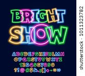 vector neon poster bright show. ... | Shutterstock .eps vector #1011323782