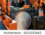 band saw cutting tool steel bar ...   Shutterstock . vector #1011332662