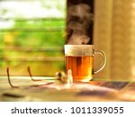 good morning concept. a cup of... | Shutterstock . vector #1011339055