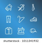 hanger and cloth icon line set... | Shutterstock .eps vector #1011341932