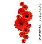 Red Gerbera Flowers In A...