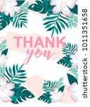 vector image with tropical... | Shutterstock .eps vector #1011351658