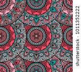 vector seamless pattern ethnic...   Shutterstock .eps vector #1011352222
