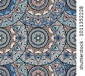 vector seamless pattern ethnic... | Shutterstock .eps vector #1011352228