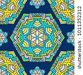vector seamless pattern ethnic... | Shutterstock .eps vector #1011352312