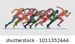group of running people from... | Shutterstock .eps vector #1011352666