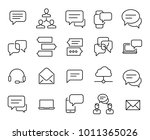 simple collection of chat... | Shutterstock .eps vector #1011365026