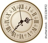 antique clock. vector... | Shutterstock .eps vector #101136952