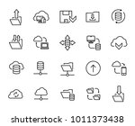 simple collection of data... | Shutterstock .eps vector #1011373438