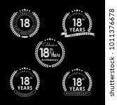 18 years anniversary... | Shutterstock .eps vector #1011376678