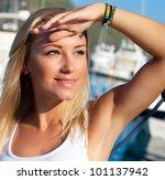 Beautiful Teen Girl Sailing ...