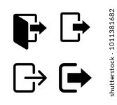 sign out  logout icon vector... | Shutterstock .eps vector #1011381682