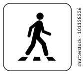 Pedestrian Symbol  Isolated On...