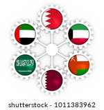 cooperation council for the... | Shutterstock . vector #1011383962
